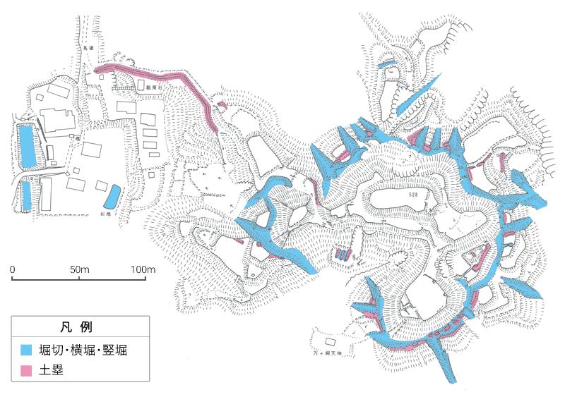 明知城縄張り図